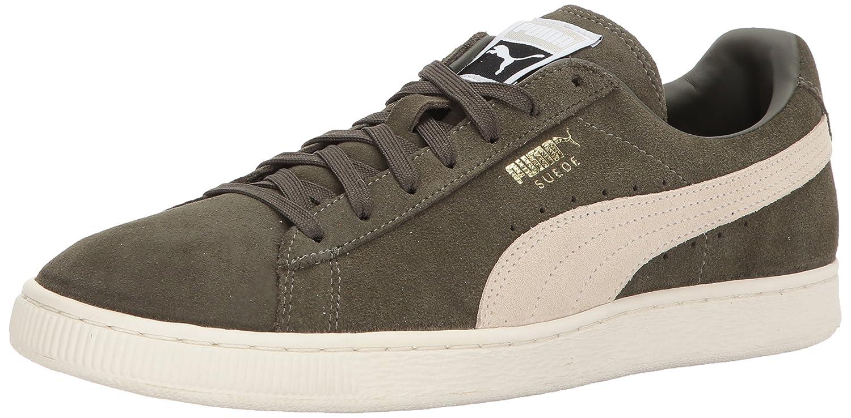 Puma Unisex-Erwachsene Suede Classic + 1 Sneaker, Black-Black, Schuhgrouml;szlig;e  40.5 EU|Verde (Olive Night-birch)