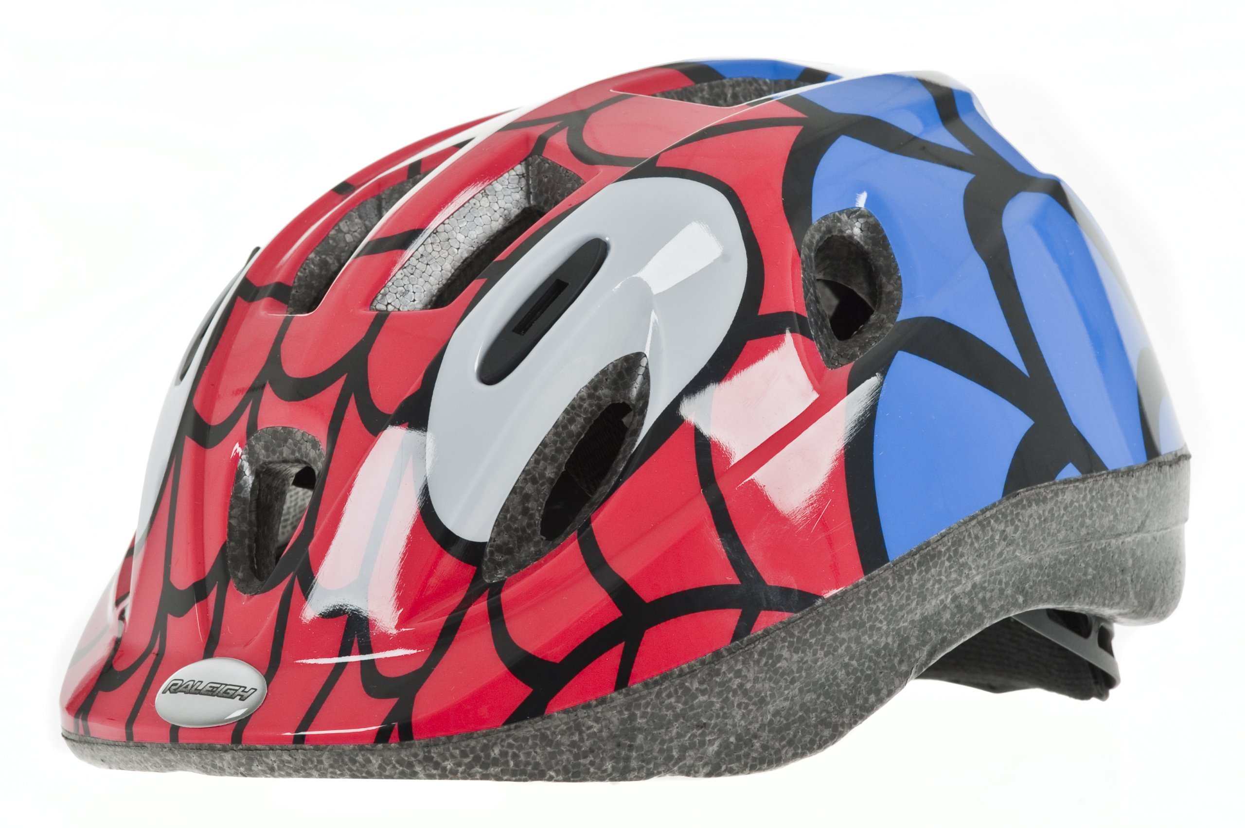 Raleigh Boy's Mystery Spiderman Cycle Helmet - Red/Blue, 48-54 cm