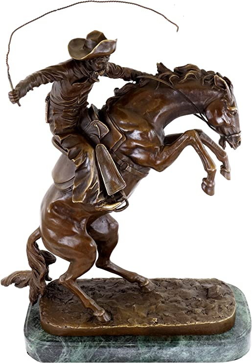 The Bronco Buster  Bronze Western Cowboy Sculpture by Frederic Remington Figure