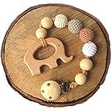 Amazon.com: Mali desgaste de madera natural juguetes de bebé ...