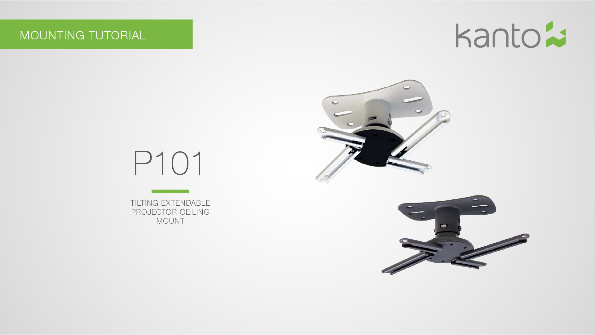 Kanto P101W Universal Projector Mount Installation Video