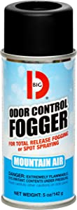 Big D 344 Odor Control Fogger, Mountain Air Fragrance, 5 oz (Pack of 12) - Kills odors from fire, flood, decomposition, skunk, cigarettes, musty smells - Ideal for use in cars, property management, hotels