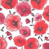 Graham & Brown 32-467 Superfresco Easy Poppies Wallpaper, Red