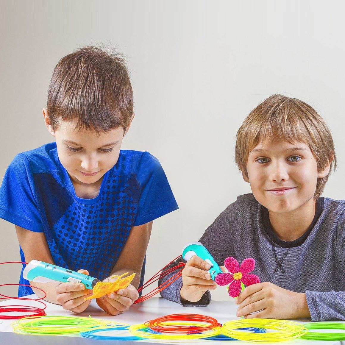 Doodler Modellbau und Kunsthandwerk Werkzeug Kompatibel mit PLA und ABS Filament Refills Low Temperature 3D-Druck-Feder mit LED-Anzeige für Kinder und Erwachsene BESTHING 3D Printing Stift