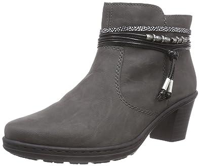 Rieker Damen 54953 Kurzschaft Stiefel, Grau (fumo Silber schwarz   45), 8d8fced2d7
