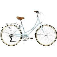 FabricBike Step City- Bicicleta de Paseo Mujer, Bicicleta Urbana Vintage Retro, Bicicleta de…