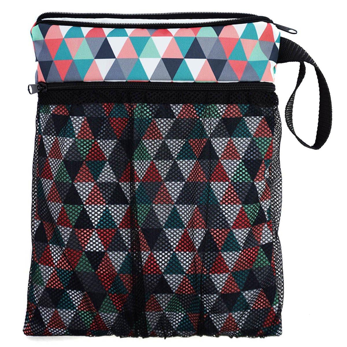 Bolsa para la bolsa de pañales sucios y un pañal limpio para el bebé neceser bolsa de cosméticos Triangles [063] Ferocity