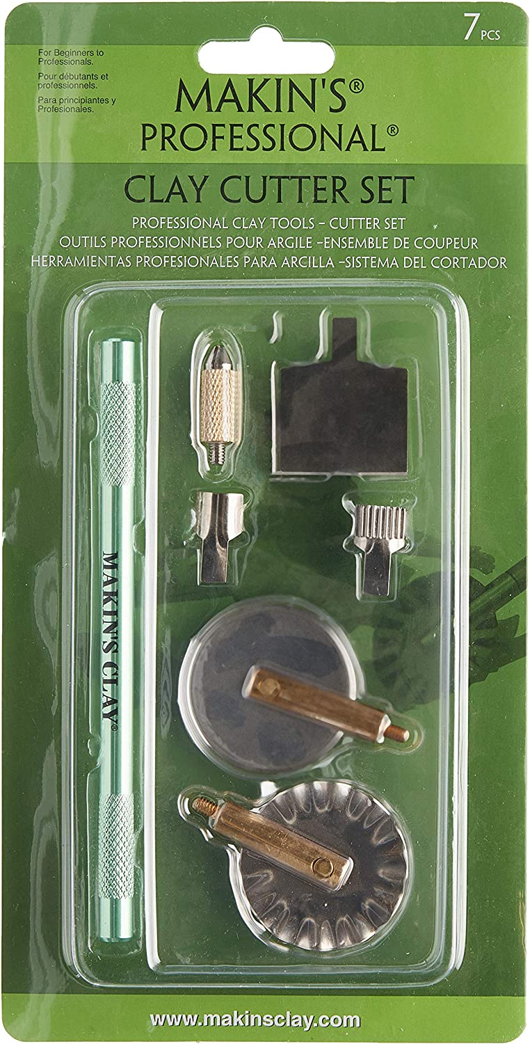 Makin/'s USA Aluminum Professional Clay Cutter Kit 7 Piece
