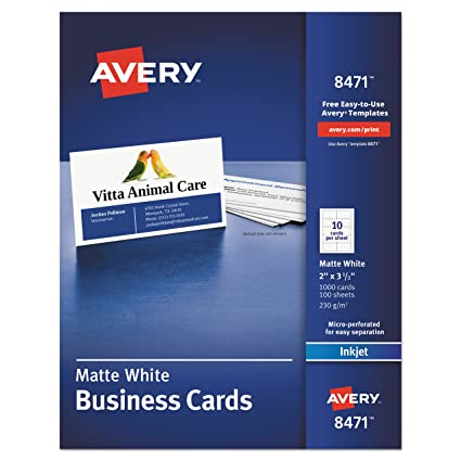 Amazon avery 8471 printable microperf business cards inkjet avery 8471 printable microperf business cards inkjet 2 x 3 12 colourmoves