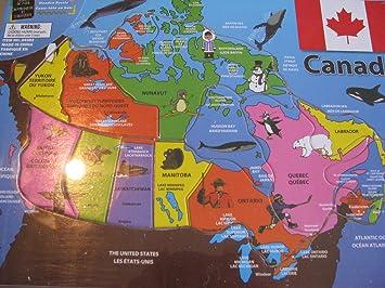 Wooden Puzzle Canada Map carte du Canada Amazonca Home Kitchen