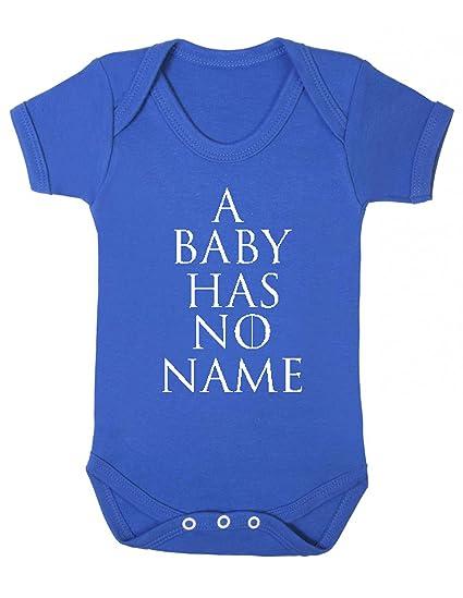 Juego de Tronos un bebé no tiene nombre chaleco Babygrow Mono divertido blanco roto Rosa oscuro Talla:0-3 meses: Amazon.es: Bebé