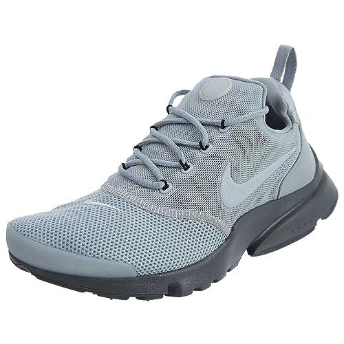 46b8a36f305c Nike Boys Grade School Presto Fly Shoes Wolf Grey Wolf Grey-Dark Grey-