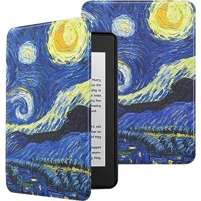 MoKo Funda para Kindle Paperwhite (10th Generation, 2018 Releases), Ultra Delgada Ligera Smart-Shell Soporte Cover Case para Amazon Kindle Paperwhite E-Reader - Noche Estrellada