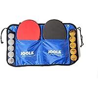 JOOLA Family Tafeltennisset, 4 tafeltennisbatjes + 10 tafeltennisballen + tas