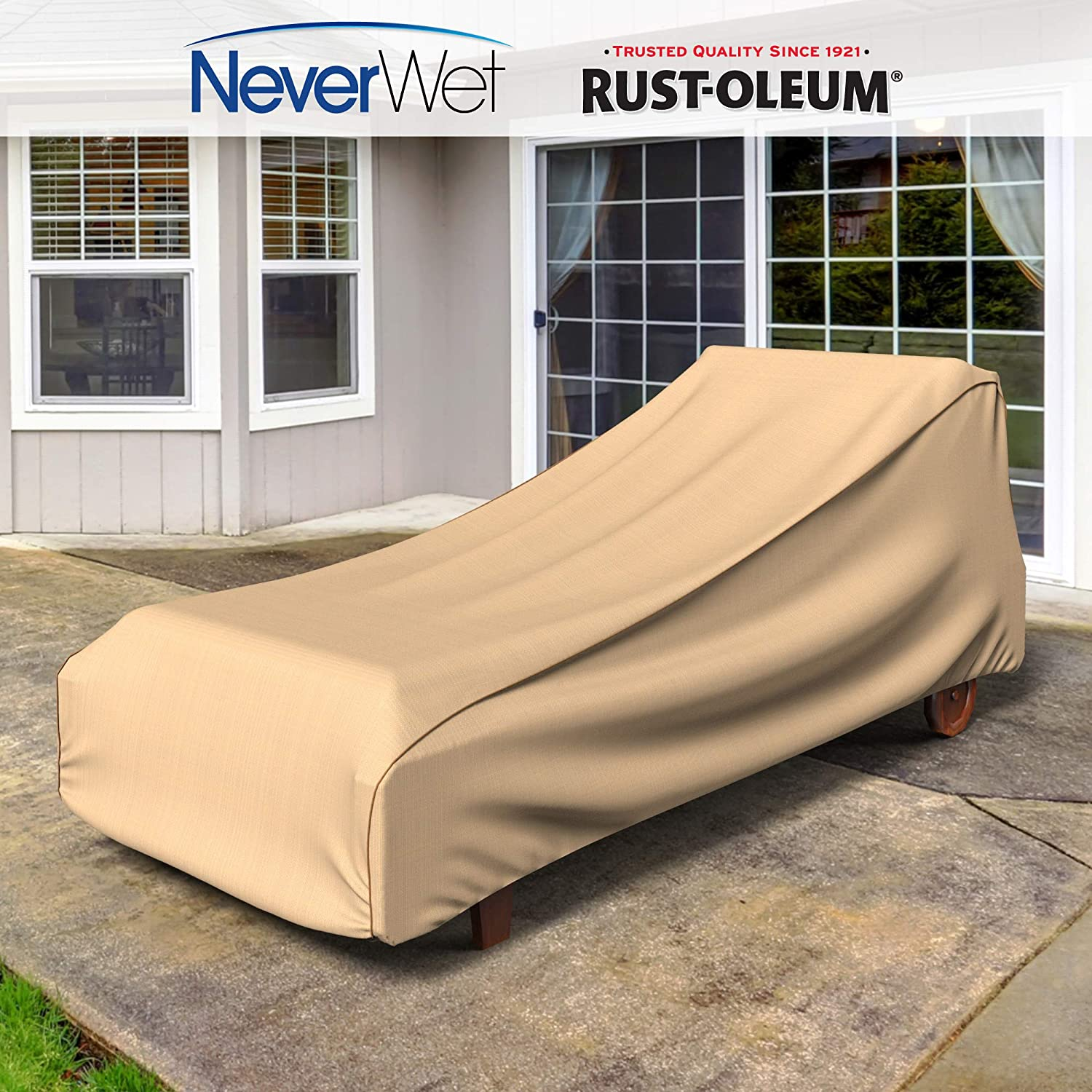 Black Ivory NeverWet Signature Patio Chaise Lounge Cover Large P2W01PMNW2