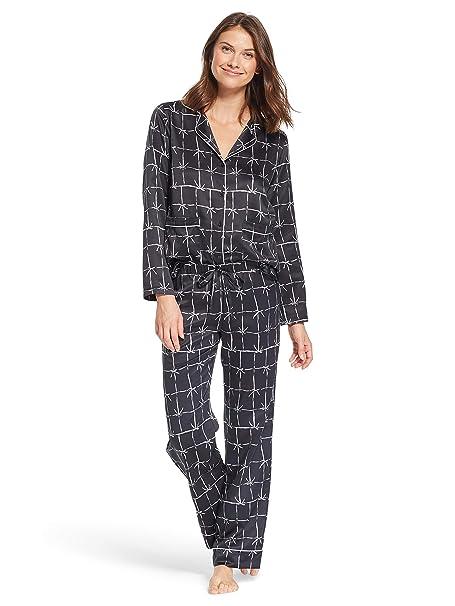 Amazon.com  Nanette Nanette Lepore Womens Polyester Button Down Pajama Shirt  and Pants Set  Clothing 8f2ca5f09