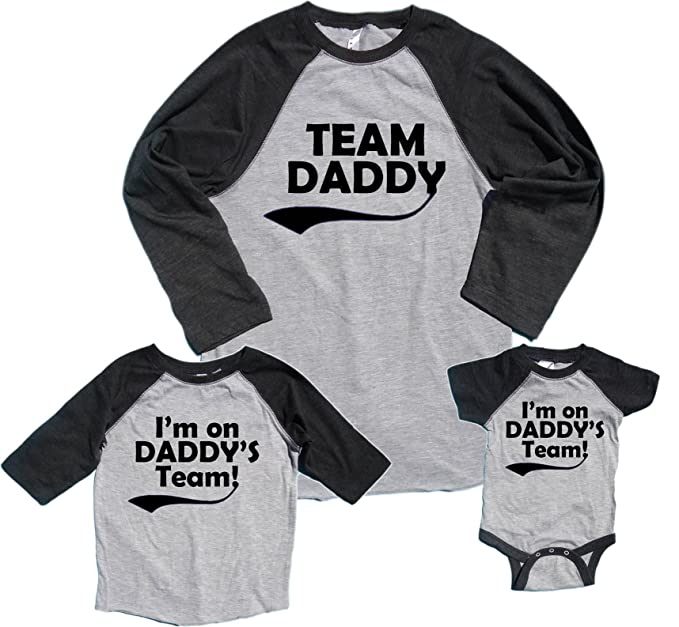 Team Daddy Matching Baseball Shirts