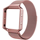 Fitbit Blaze Band, Swees Milanese Loop Magnetic Stainless Steel Replacement Bracelet Strap for Fitbit Blaze Smart Fitness Watch, With Metal Frame
