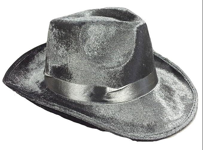 Amazon.com  Fedora Velvet Michael Jackson Roaring 20 S Mob Gangster ... 1f27136fec1