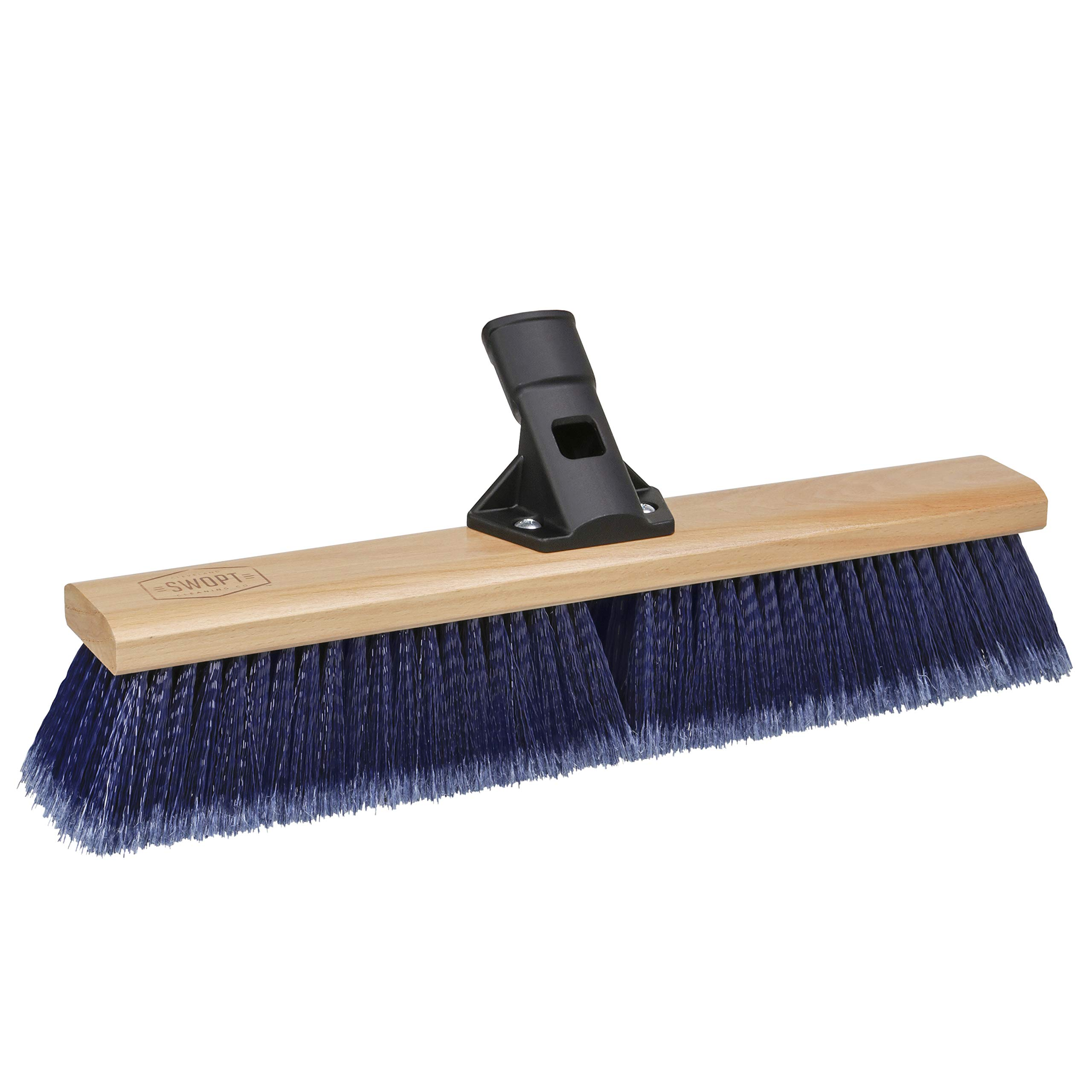 "SWOPT 18"" Premium Multi-Surface Push Broom Head – Push Broom for Indoor and Outdoor Use – Interchangeable with Other SWOPT Products for More Efficient Cleaning and Storage, Head Only, Handle Sold Separately, 5113C4"