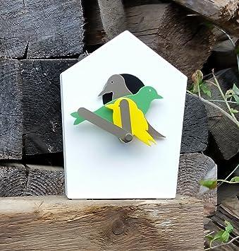 IKEA STAR HOLK Bird Clock Wall Clock Amazoncouk Kitchen Home