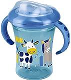 NUK Starter Cup Trinklernbecher, Silikontrinktülle, auslaufsicher, 230ml, 6+ Monate, BPA-frei, Blau