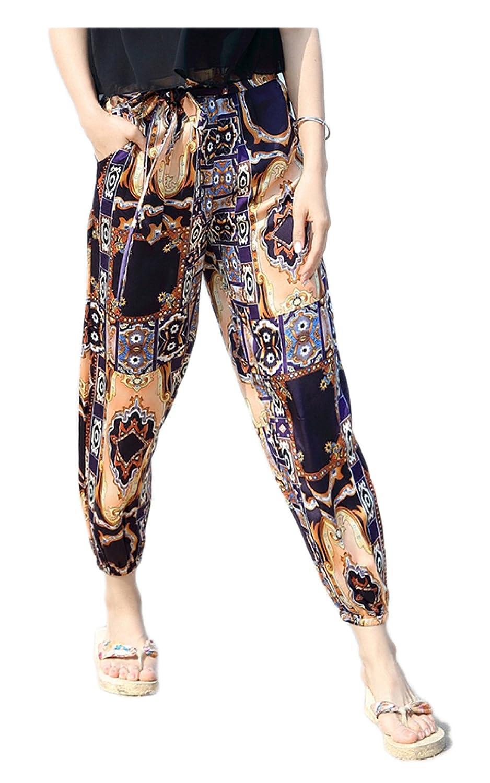 GZHGF Pantalones De Harem / Pantalones De Linterna Pantalones De Playa De Yoga / Pilates Dance Print: Amazon.es: Deportes y aire libre