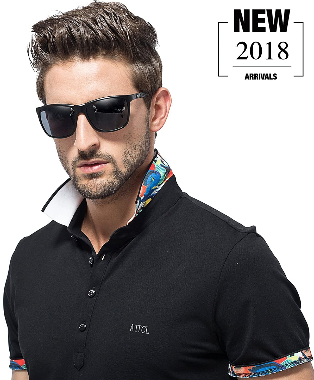 02e5a31f3d9c4 Amazon.com  ATTCL Men s Hot Retro Metal Frame Driving Polarized Wayfarer  Sunglasses For Men 18587black  Clothing