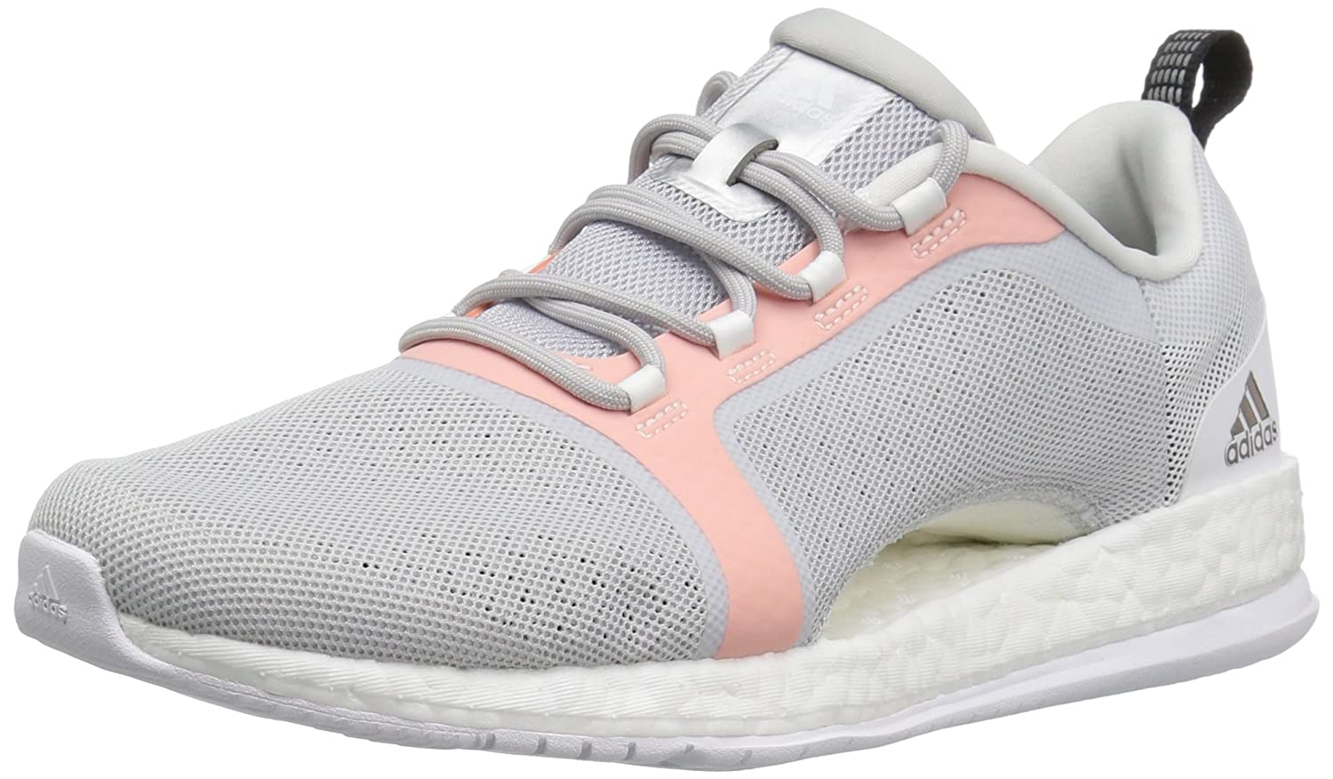 adidas Women's Pure Boost X Tr 2 Cross-Trainer Shoes B01LZXVSVM 10 M US|Light Grey/Black/Easy Orange