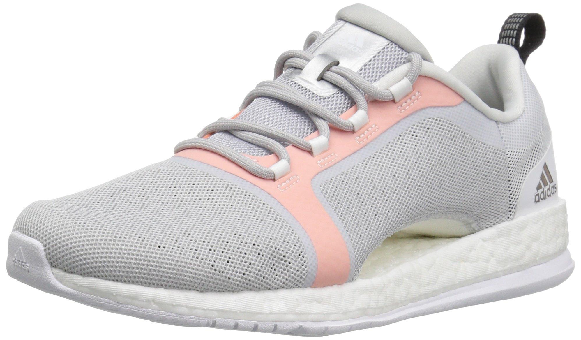 purchase cheap d70dc 2ebb6 adidas Women's Pure Boost X TR 2 Cross-Trainer Shoes, Light Grey/Black/Easy  Orange, (9 M US)