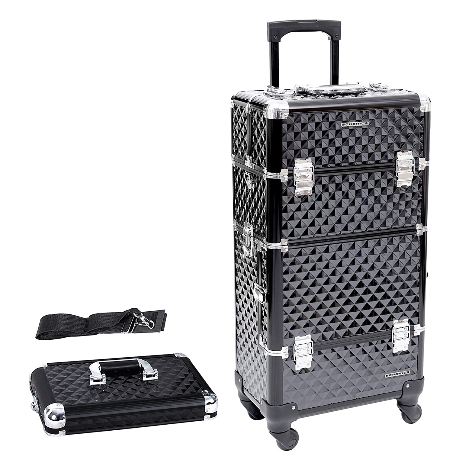 Songmics® JHZ04B Nail Art Make-Up Beauty Case/Trolley / Suitcase/Box for Nail Polishes, Objects and Jewellery