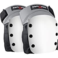 Triple Eight Street Knee Pads for Skateboarding and Roller Derby with Adjustable Straps (1 Pair)