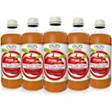 Sinew Nutrition Apple Cider Vinegar with Strands of Mother, 500 ml (Pack of 5)
