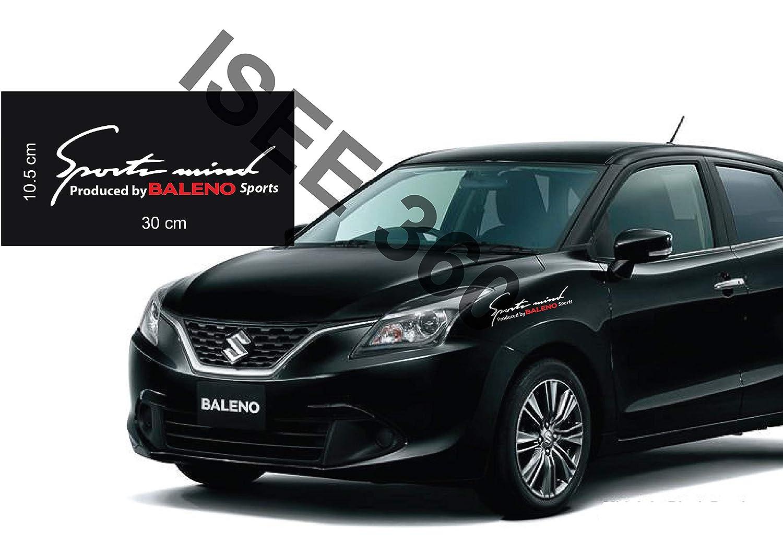 Isee 360 Suzuki Baleno Sticker For Car Exterior Door Sides Windows Sports Mind Red And White Decals L X H 30 X 10 Cms Amazon In Car Motorbike [ 1061 x 1500 Pixel ]