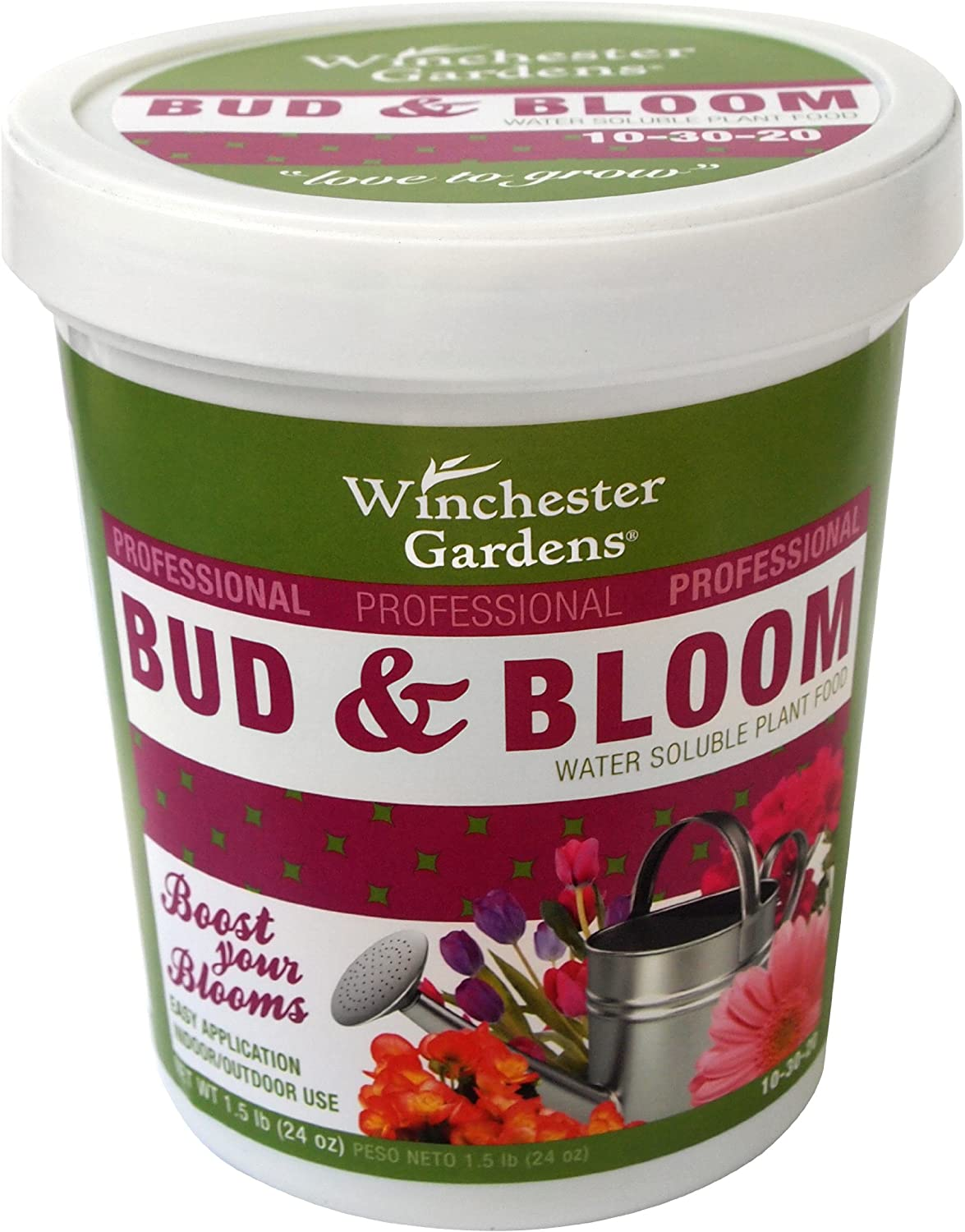 Winchester Gardens Water Soluble Plant Food Bud and Bloom Fertilizer, 1.5-Pound