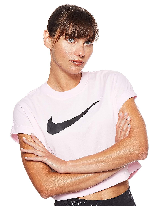 Nike W NSW SWSH TOP CROP SS Maglietta Donna