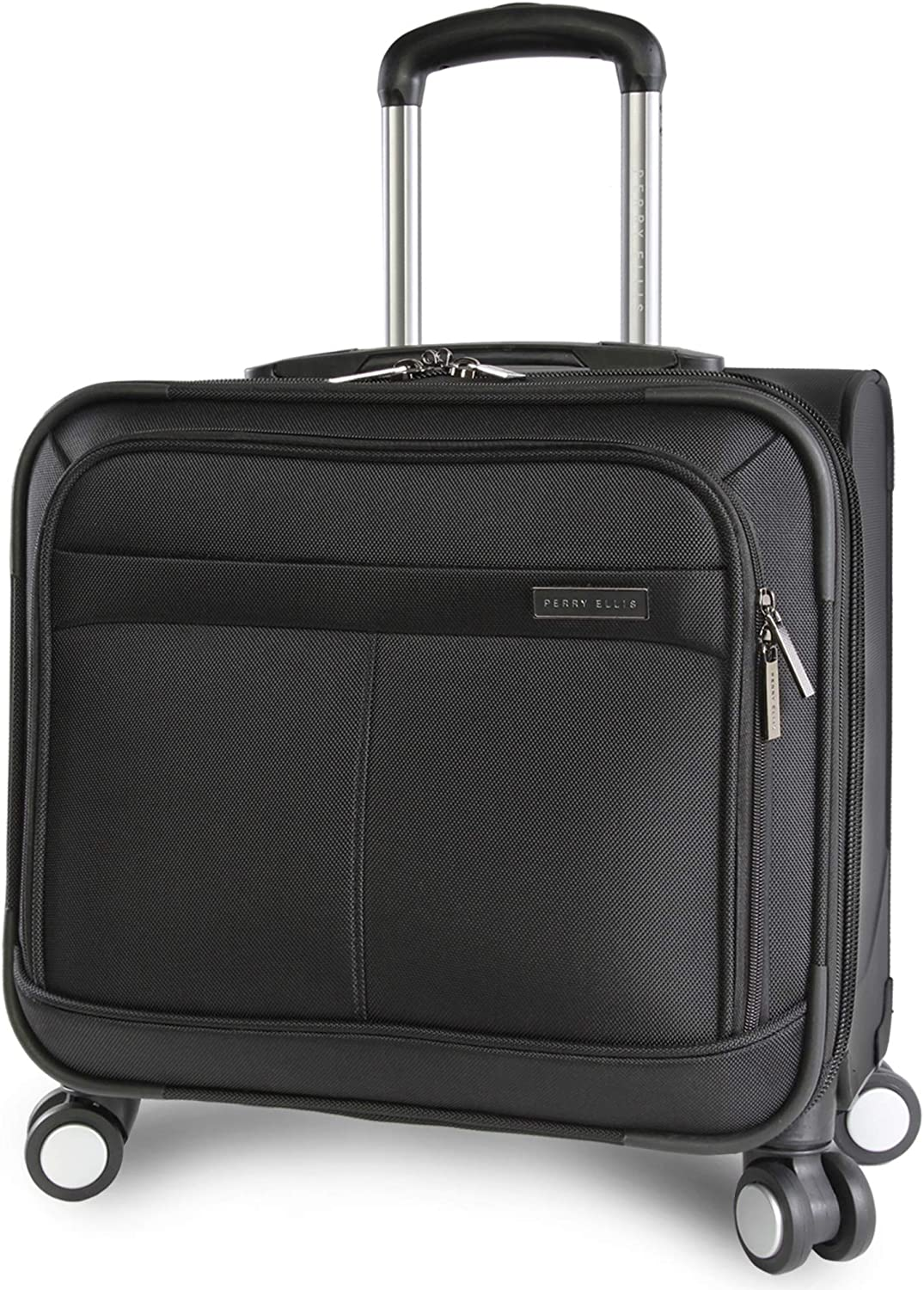 Perry Ellis 8-Wheel Spinner Mobile Office, Black