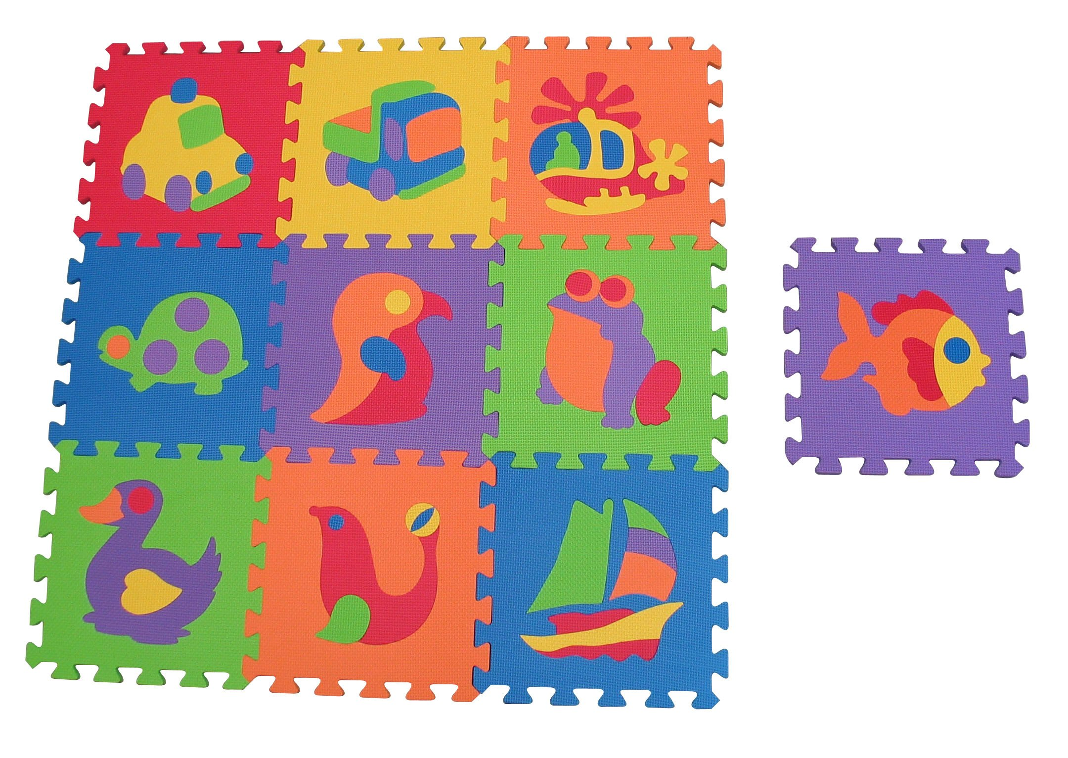Edushape EduTile Puzzle, 10 Piece Set