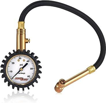 60 PSI Range Straight Angle Accu-gage Tire Pressure Guage