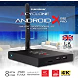 Sumvision® Cyclone Smart Android 6.0.1 TV Box Media Player Android X912 Pro Amlogic S912 Octa Core 2GB Ram 8GB Storage 4K Support Bluetooth 5Ghz WiFi Gigabit LAN