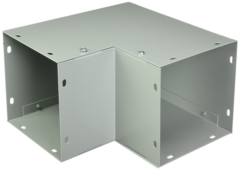 Straight Section Gray Flat Cover Galvanized Hoffman F1010T124GVP Wireway 10.00 x 10.00 x 24.00 NEMA 1