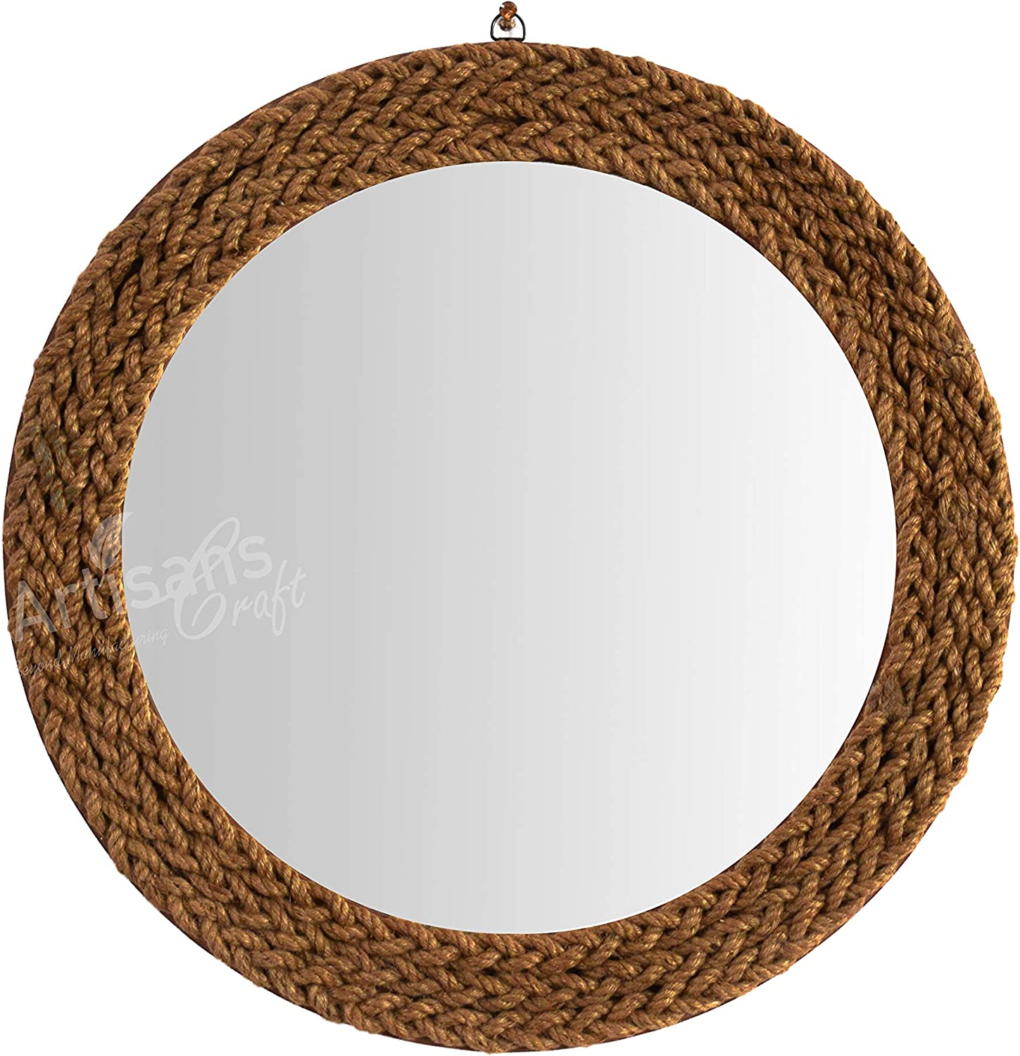 ARTISANS CRAFT - Handmade Nautical Decor Wall Mirror Affordable Wall Hangings (24 x 24, Without Loop)