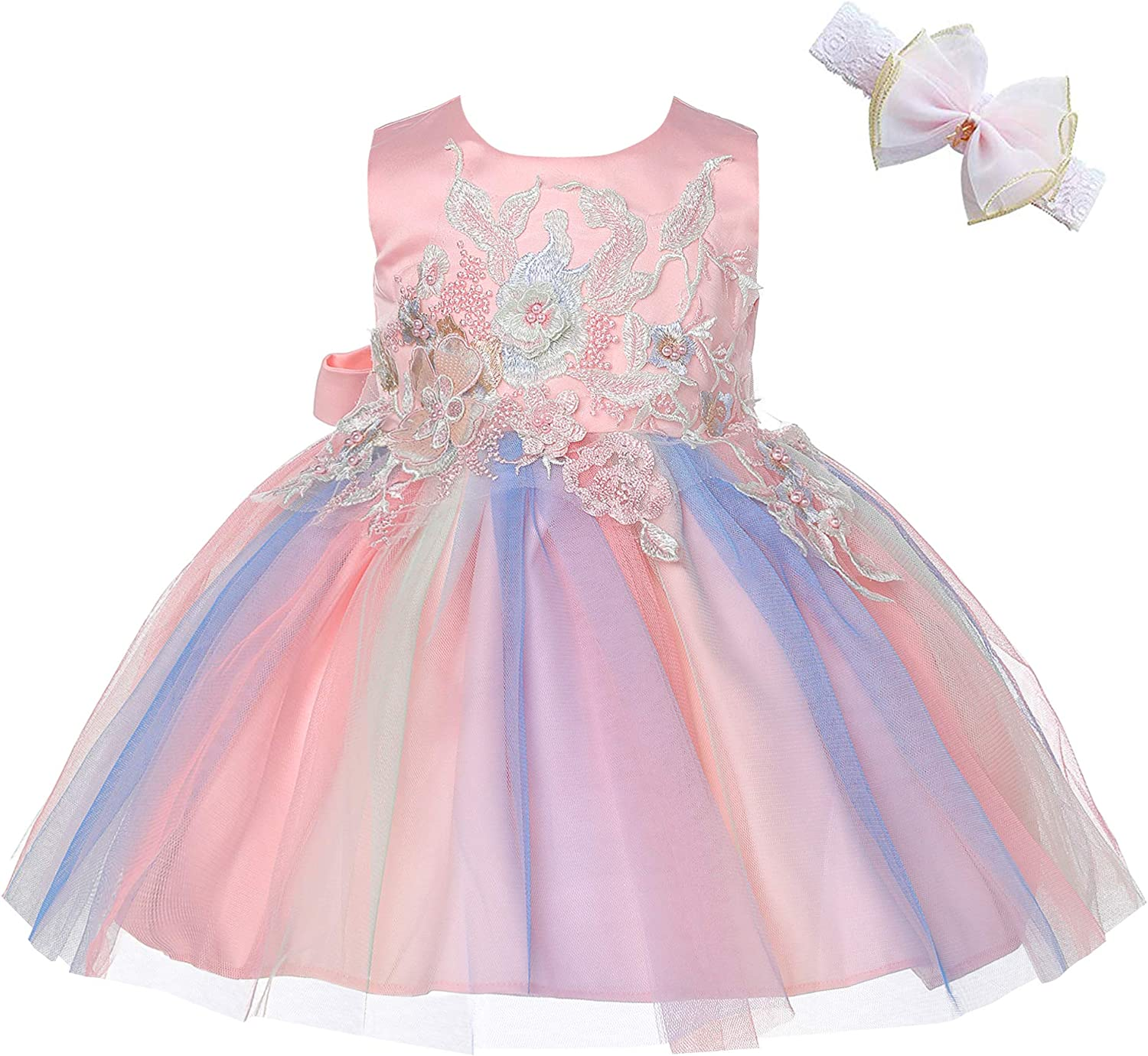 Weileenice Baby Girls Costume Cosplay Dress Pastel Tulle 6D Embroidery  Beading Princess Tutu Dresses