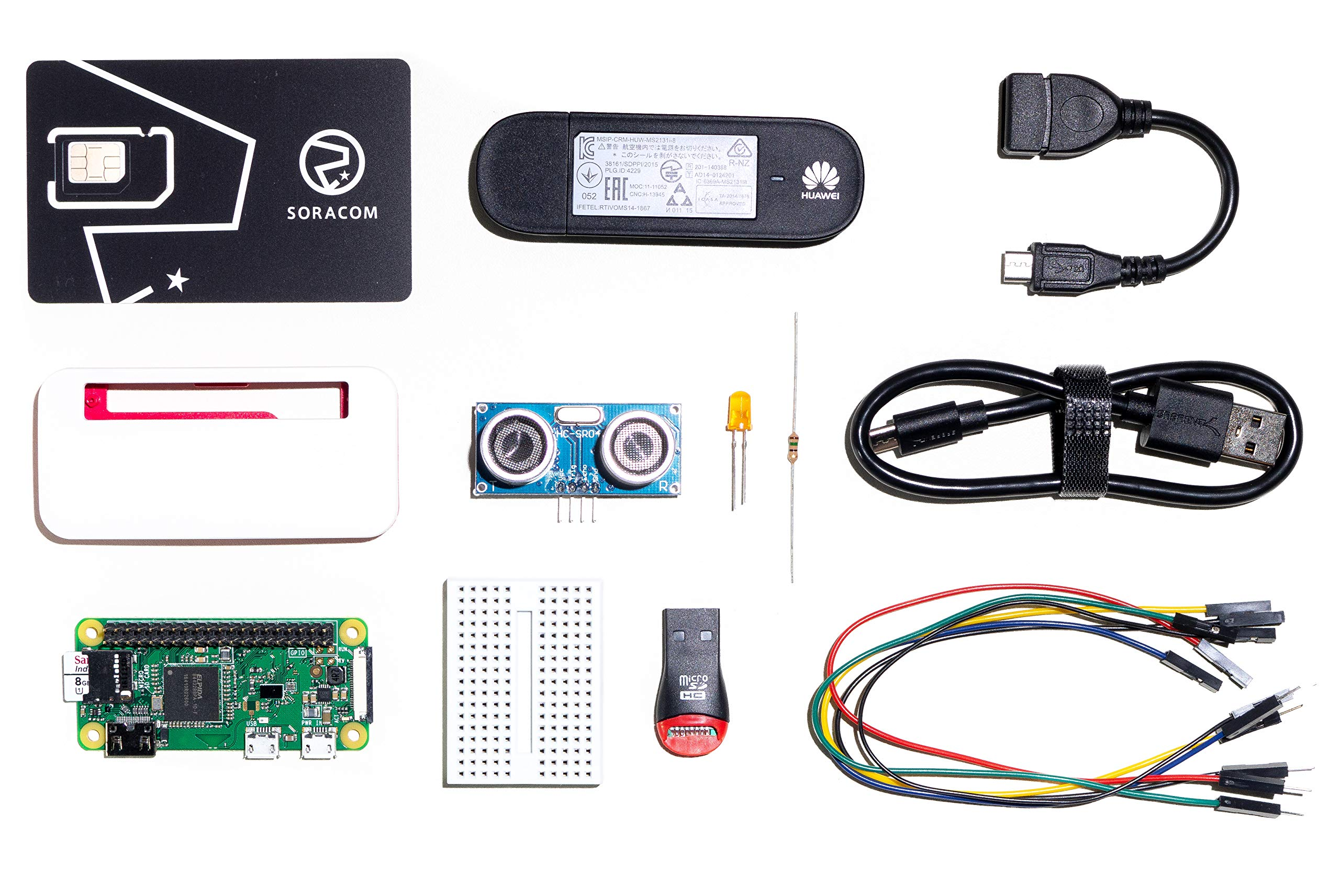 SORACOM Cellular IoT Starter Kit with Raspberry Pi Zero WH and IoT Sim Card | Dongle and 9 Essential Accessories | Create IoT Development Cellular Connect Products | 16 GB by SORACOM (Image #1)