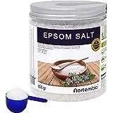 Nortembio Sale di Epsom 800g, Fonte Concentrata di Magnesio, Sale Naturale al 100%. Bagno e Cura Personale.