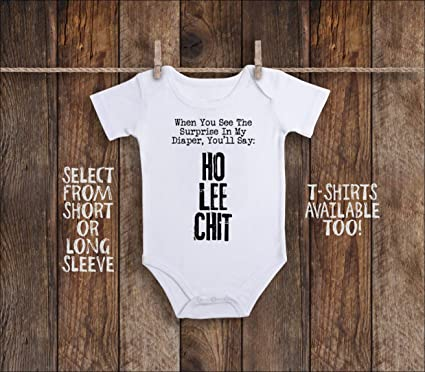 f4b764495 Amazon.com: Inappropriate Baby Onesie Dirty Diaper Baby Shower Humor ...
