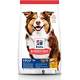 Hill's Science Diet Dry Dog Food, Adult 7+ for Senior Dogs, Chicken Meal, Barley & Brown Rice Recipe