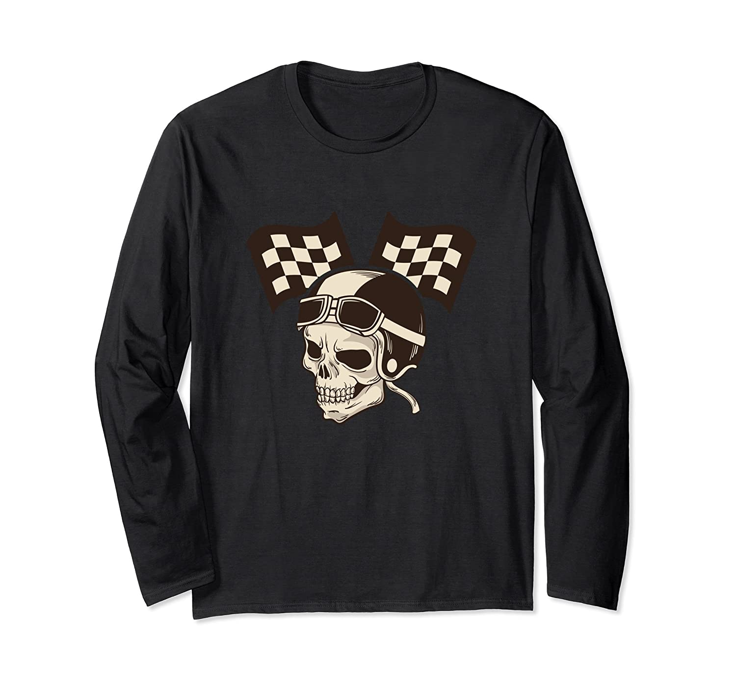 Biker Ghost Pilot Long Sleeve Shirt Motorbike Biker Life-mt