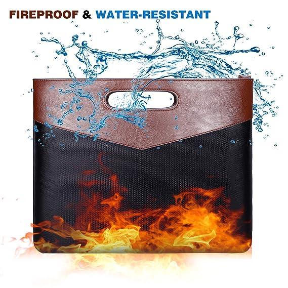 Amazon.com: Bolsa para documentos, resistente al fuego y al ...
