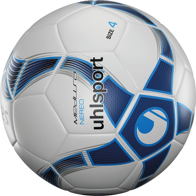 Uhlsport NEREO Balón fútbol, Adultos Unisex, Blanco Marino/Azul H ...